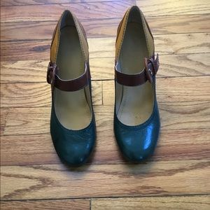 Tri colour Nine West Mary Janes